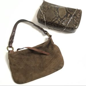 GAP Wristlet AND Small Purse Suede - Faux Leather
